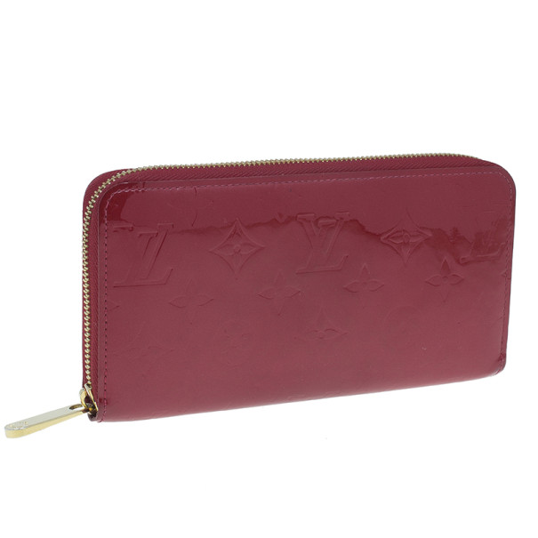 Louis Vuitton Red Vernis Zippy Continental Wallet