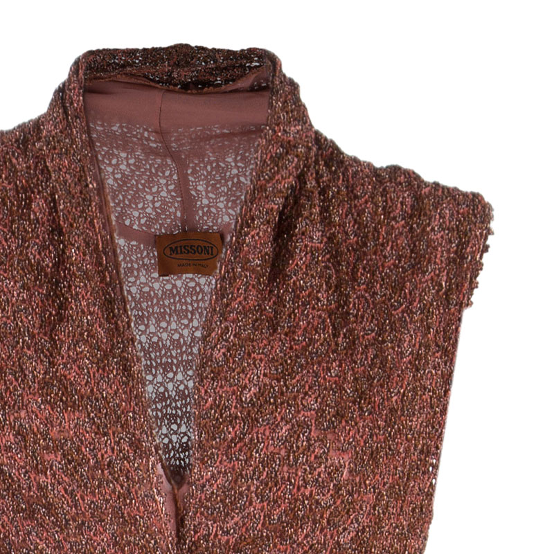 Missoni Mahogany Metallic Knit Gown S