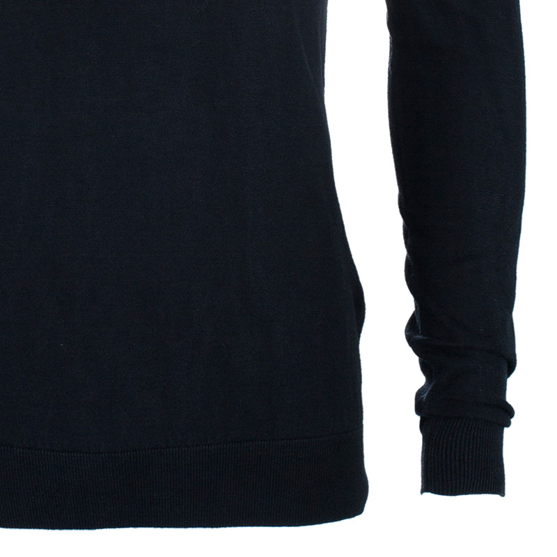 Z Zegna Men's Black V-Neck Sweater XL