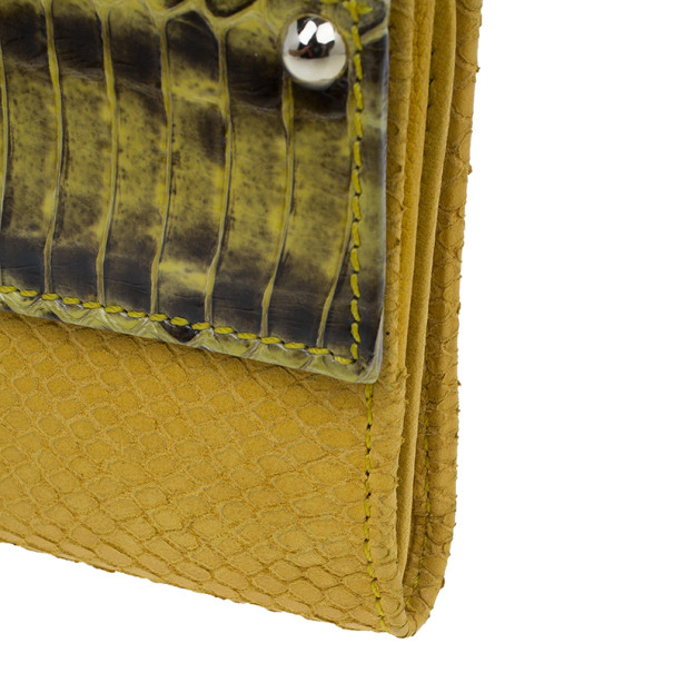 Jimmy Choo Embossed Leather and Elaphe Uma Wallet