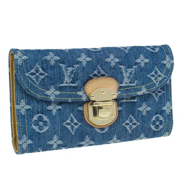 Louis Vuitton Denim Monogram Amelia Wallet