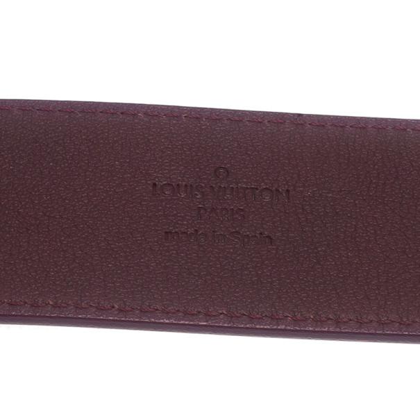 Louis Vuitton Amarante Monogram Vernis Initials Belt 85CM