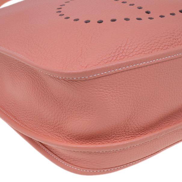 Hermes Peach Evelyne Togo III GM Bag