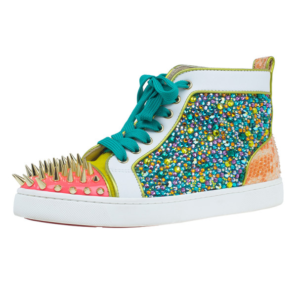 Christian Louboutin No Limit Spikes Cap Toe Sneakers Size 39