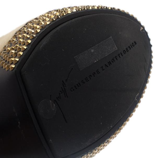 Giuseppe Zanotti Pony Hair Ankle Strap Pumps Size 37
