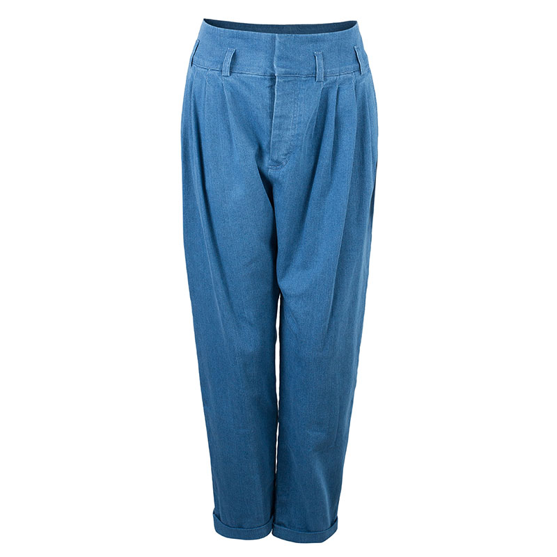 Balmain Denim Pleated Trousers M