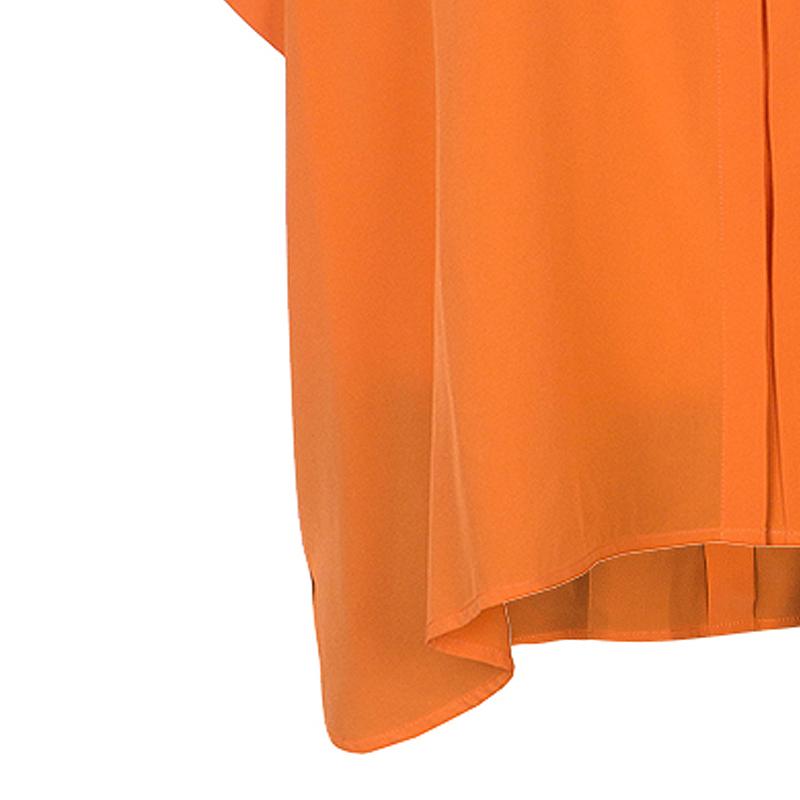 Diane von Furstenberg Tangerine New Eris Top S
