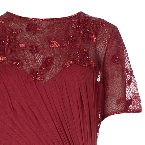 Tadashi Shoji Crimson Lace Tulle Gown XXL