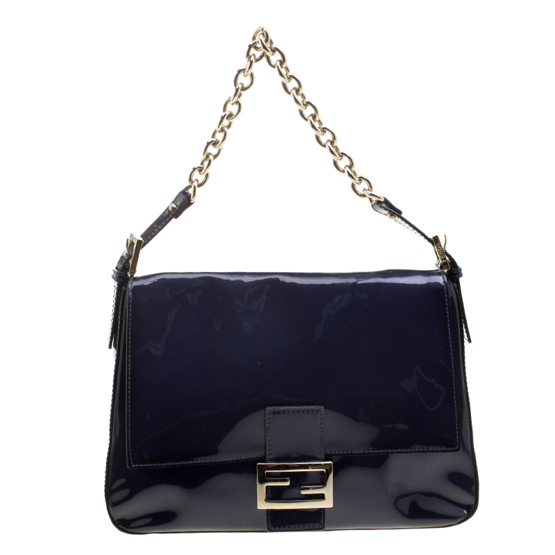 9545bcc98 ... low price fendi navy blue patent leather mama forever shoulder bag buy  2b213 34e6b ...