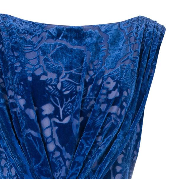 Tadashi Shoji Blue Devore Gown XL
