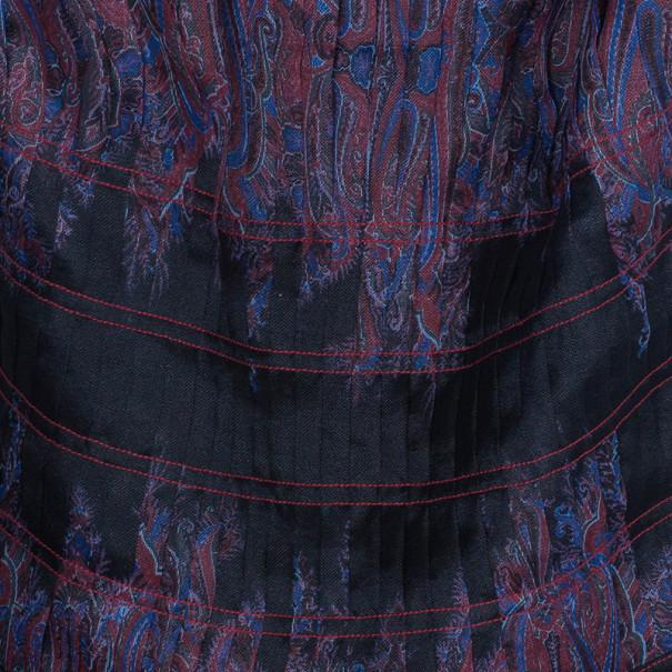 Tadashi Shoji Printed Pleated Gown L