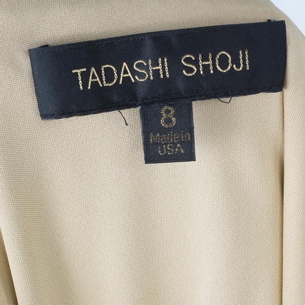 Tadashi Shoji Pleated Lace Navy Gown M