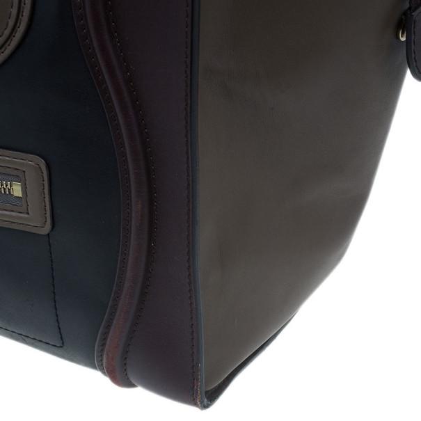 Celine Tri-Color Calfskin Mini Luggage Tote