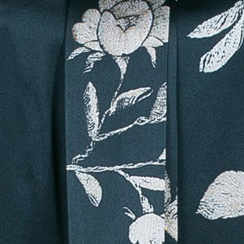 Roberto Cavalli Green Floral Silk Sleeveless Top S