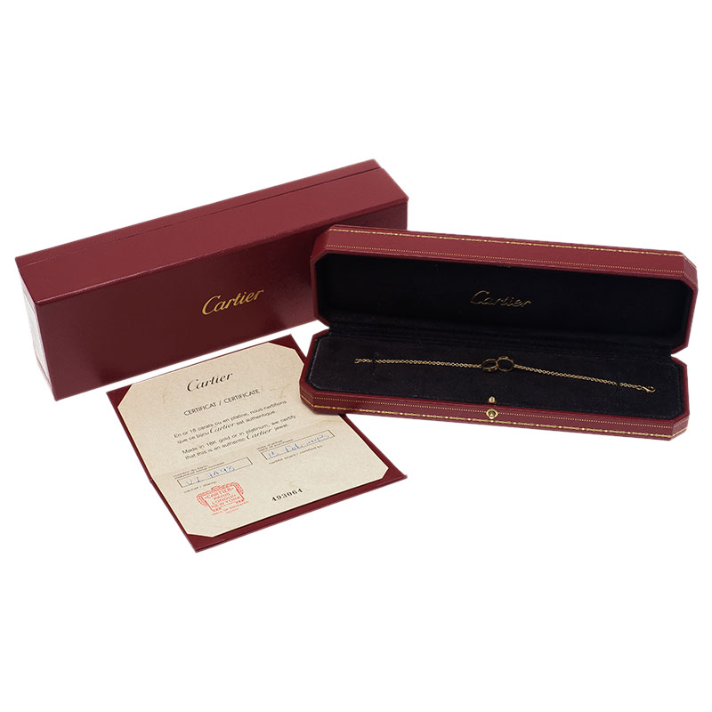 Cartier Love 2 Hoops Yellow Gold Bracelet