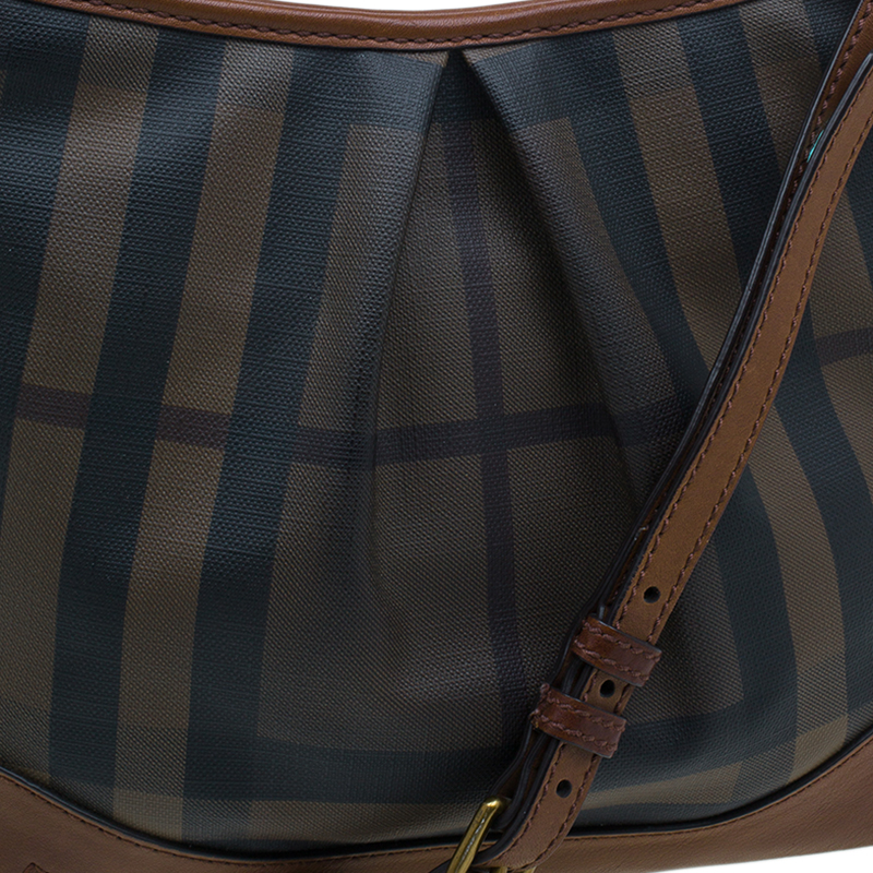 Burberry Brown Coated Canvas Hartham Crossbody Bag