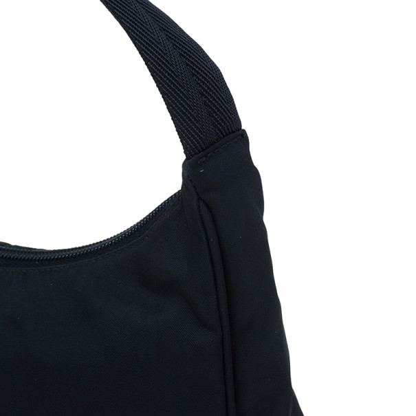 Prada Black Nylon Mini Tessuto Shoulder Bag