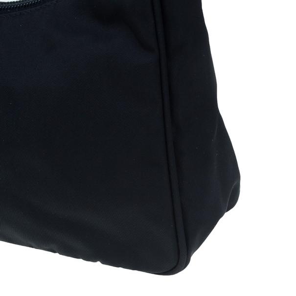 Prada Black Nylon Mini Tessuto Shoulder Bag