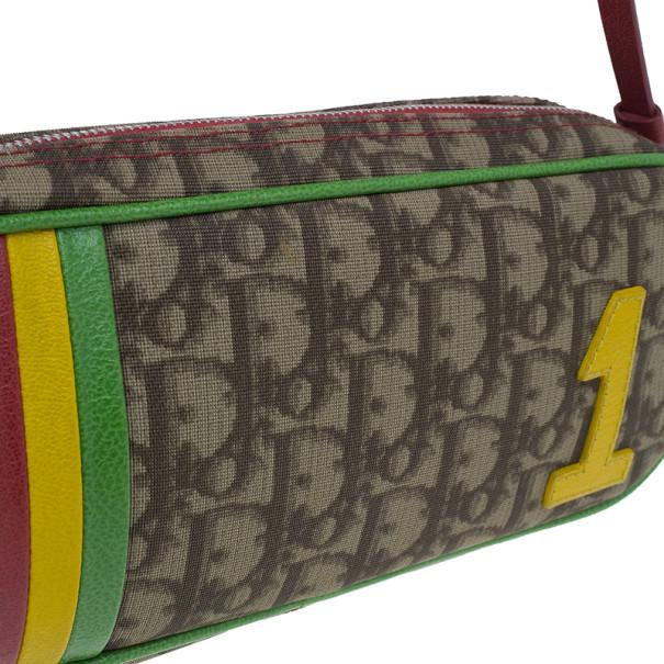 Dior Monogram Canvas Rasta 1 Trotter Pochette