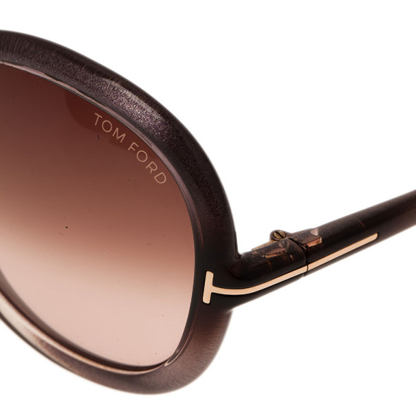 Tom Ford Grey Candice Round Sunglasses