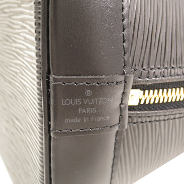 Louis Vuitton Noir Epi Leather Alma MM