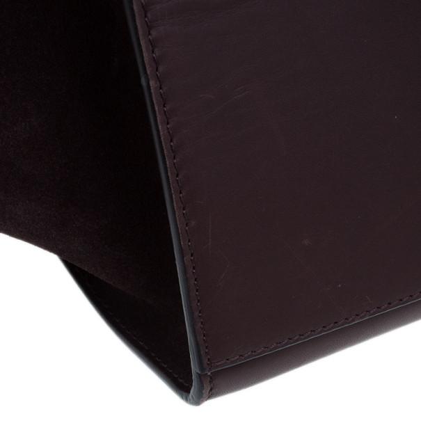 Celine Red Leather Mini Trapeze Bag