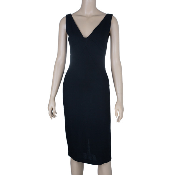 Dolce and Gabbana V-neck Fitted Dress S