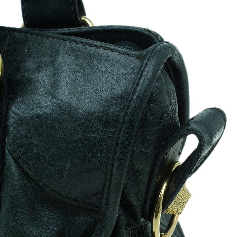 Balenciaga Dark Green Lambskin Giant City Bag