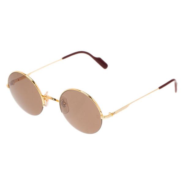 4296075ab37 Cartier Half Rim Round Sunglasses « Heritage Malta