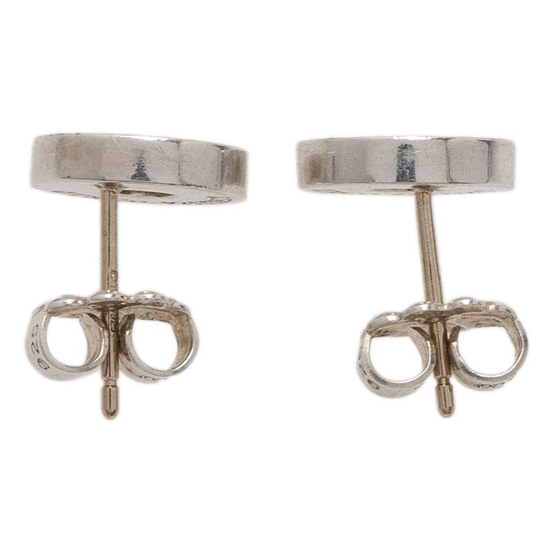 Tiffany & Co. 1837 Circle Silver Stud Earrings
