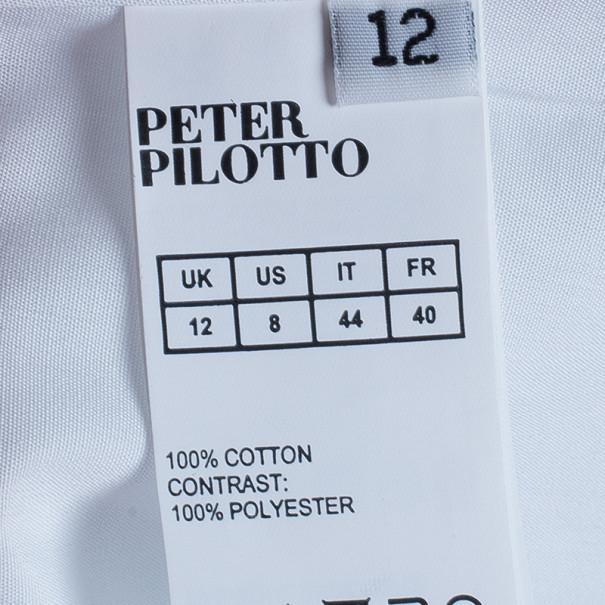 Peter Pilotto White Sleeveless Blouse M