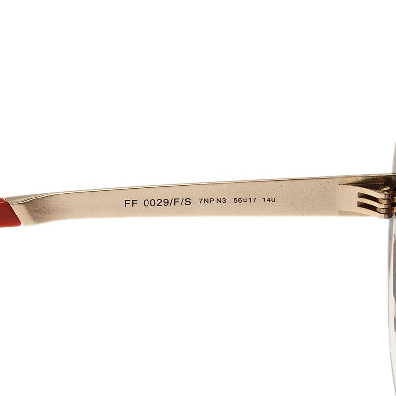 Fendi Transparent Retro Oversized Sunglasses