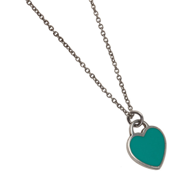 Tiffany & Co. Return to Tiffany Mini Double Heart Tag Sterling Silver Pendant Necklace