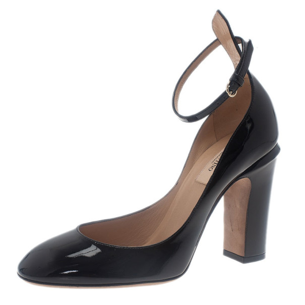 Valentino Patent Leather Tan-Go Pumps Gr. IT 38 5nFw3