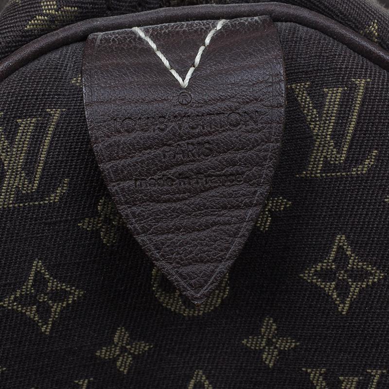 Louis Vuitton Monogram Canvas Mini Lin Speedy 30 Bag