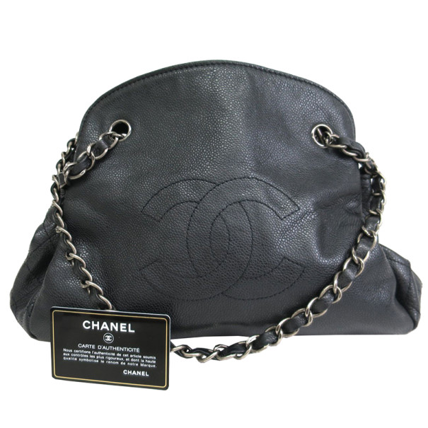 Chanel Black Caviar Chain Shoulder Bag