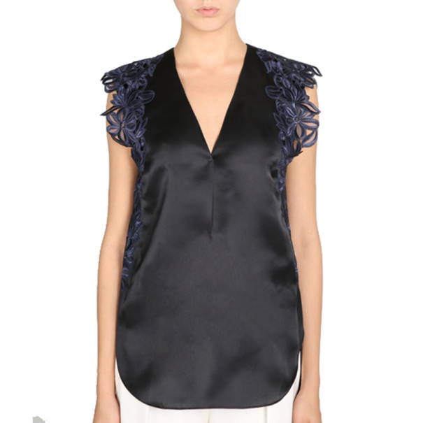 3.1 Phillip Lim Sleeveless Lace-Detailed Blouse M