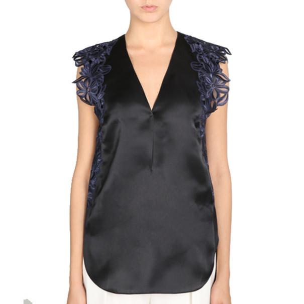 3.1 Phillip Lim Sleeveless Lace-Detailed Blouse M