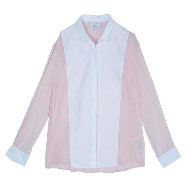 3.1 Phillip Lim Two-Tone Chiffon Shirt M