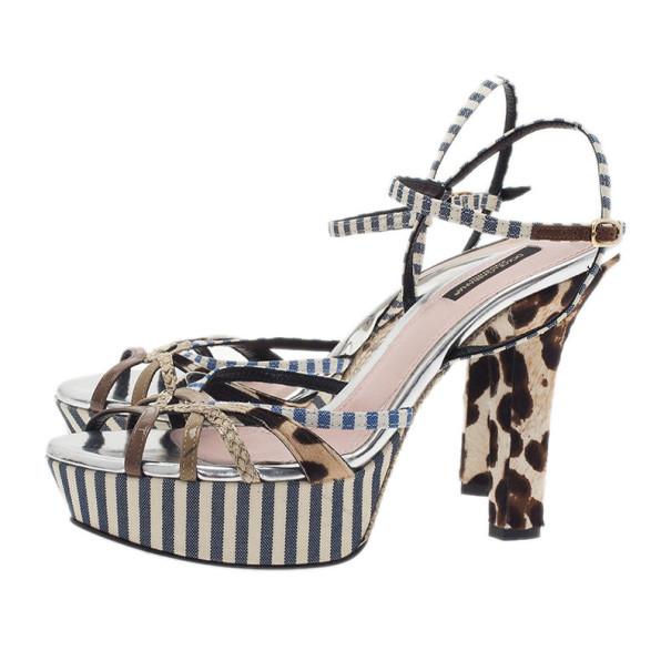 Dolce and Gabbana Strappy Platform Sandals Size 38