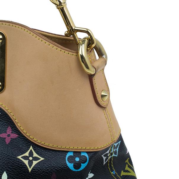 Louis Vuitton Black Multicolor Monogram Canvas Judy Bag MM
