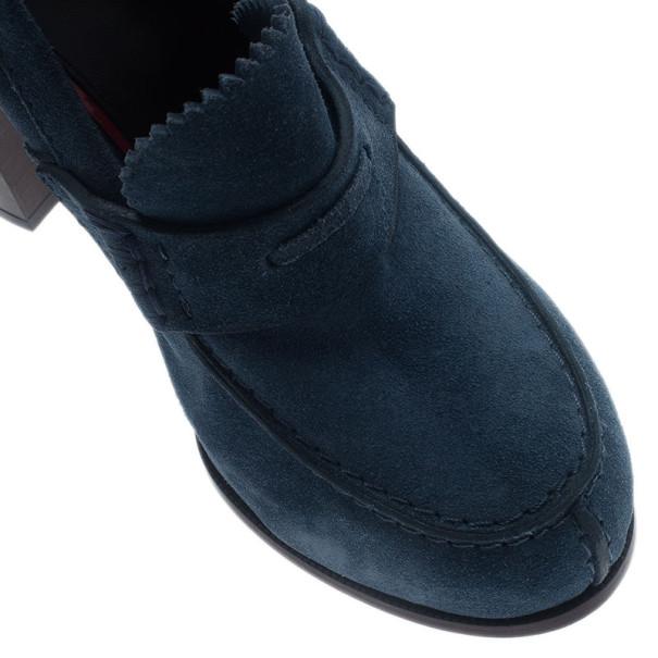 Celine Blue Suede Loafer Platform Pumps Size 38