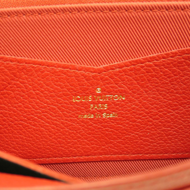 Louis Vuitton Red Calf Leather Checkbook Wallet