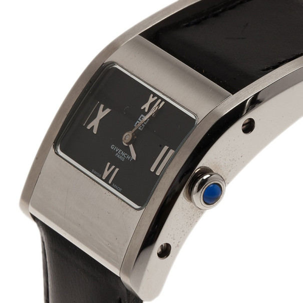 Givenchy Black Stainless Steel Classic Women's Wristwatch 25MM
