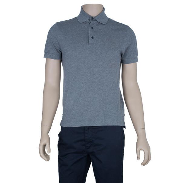 Tom Ford Men's Grey Polo Shirt L