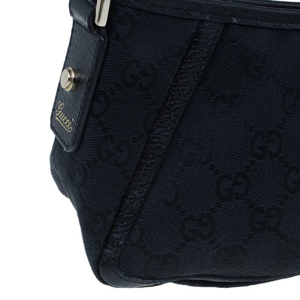 Gucci Black Fabric Small GG Abey Shoulder Bag