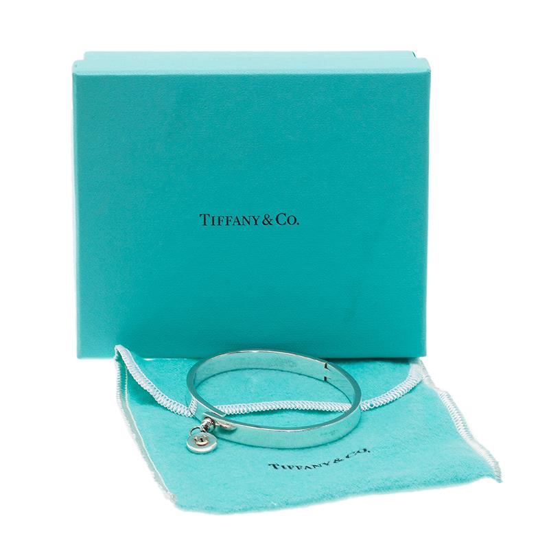 Tiffany & Co. Vintage Lock Silver and Gold Bangle Bracelet