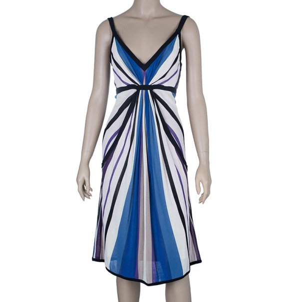Temperley London Abstract Print Knit Dress M