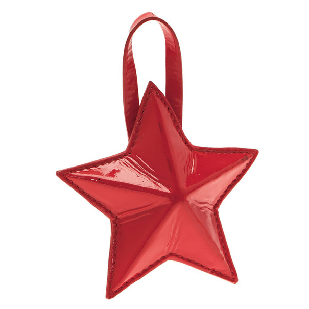 Jimmy Choo Red Patent Star Pouch