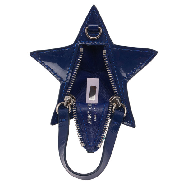 Jimmy Choo Blue Patent Star Pouch